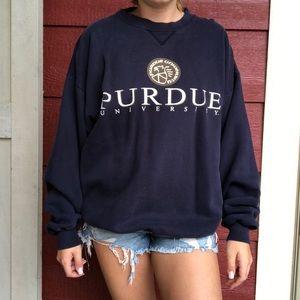 Tops - PURDUE UNIVERSITY crew sweatshirt